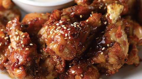 Big Game Day Recipes - Sticky Sesame Chicken Wings