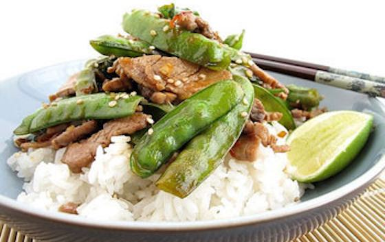 Stir-Fried Pork with Sugar Snap Peas