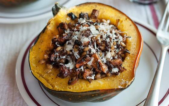 Stuffed Roast Squash Recipe