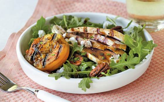 Summer Salad with Grilled Chicken and Peaches Recipe