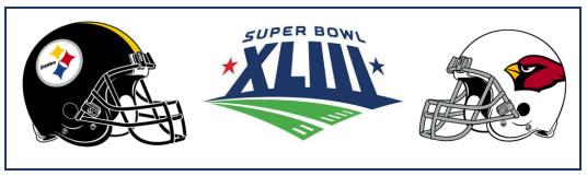 Super Bowl XLIII - Steelers 27 Cardinals 23 - Statistics & Box Score