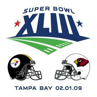 Cardinals Steelers Super Bowl XLIII Tampa Bay Florida February 1, 2009
