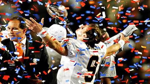 Super Bowl XLIV - Saints Brees by Colts 31-17 for Victory - Drew Brees MVP