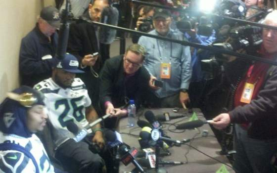 Super Bowl XLVIII: Lynch Again Breaks from Media Chores
