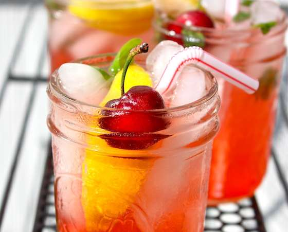 Sweet and Sour Cherry Vodka Sparkler Recipe