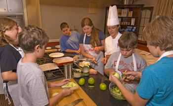 The Essex Resort & Spa offers summer culinary camps for kid, as well as special private family classes