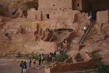 Taking the Kids to Mesa Verde National Park - Climbing up to the cave dwellings at Mesa Verde