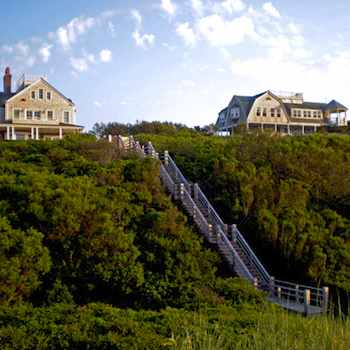 Taking the Kids to Nantucket - Quaint houses on the cliff