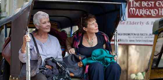 Judi Dench and Tom Wilkinsonin The Best Exotic Marigold Hotel