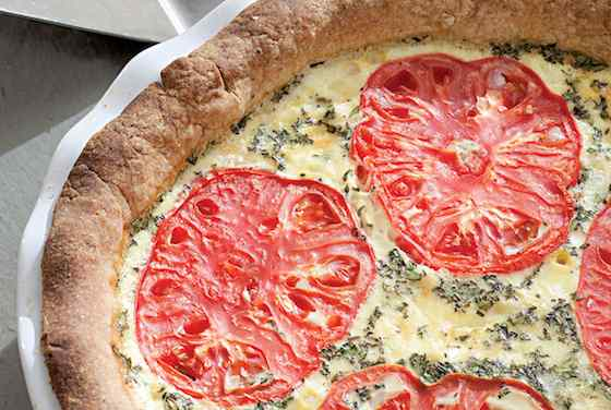 Tomato-Corn Quiche Recipe