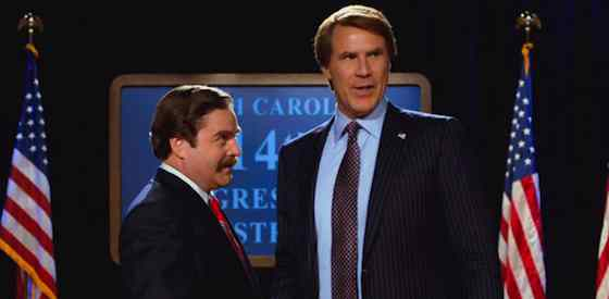Will Ferrell and Zach Galifianakis  in The Campaign