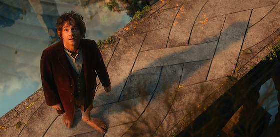 Martin Freeman and Ian McKellen  in The Hobbit: An Unexpected Journey