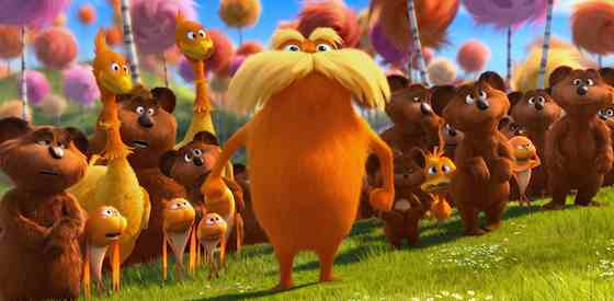 Danny DeVito and Zac Efronin The Lorax