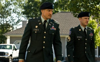 Ben Foster & Woody Harrelson  in the movie The Messenger