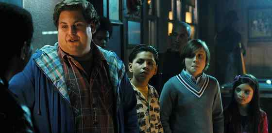Jonah Hill and Max Recordsin The Sitter