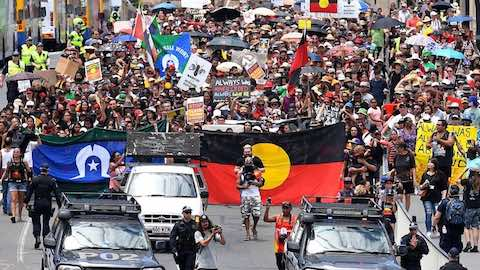Thousands March Demanding Change To Australia Day