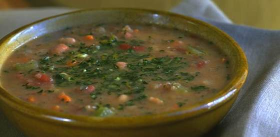 Three Bean Soup with Gremolata: A Vegetarian Favorite
