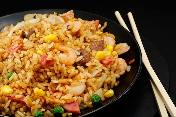 Three Color Fried Rice Recipe