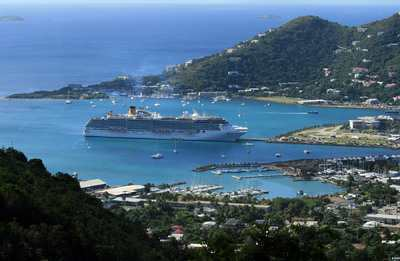 Tortola is a popular port for ships of all sizes in the British Virgin Islands