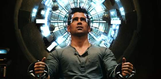 Colin Farrell and Kate Beckinsale in Total Recall