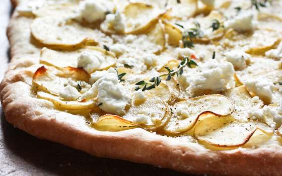 Truffled Potato and Goat Cheese Flatbread Pizza Recipe
