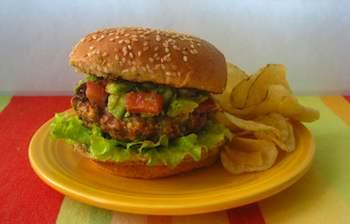 Turkey Burgers With Smoked Paprika And Avocado Salsa Recipe