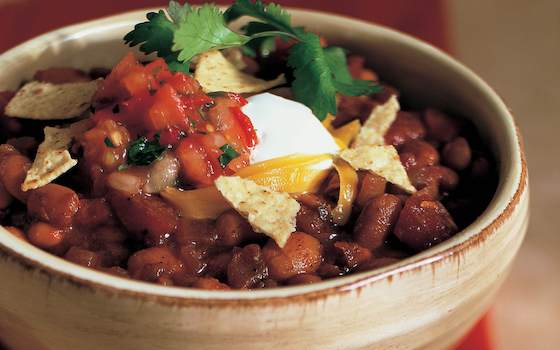 Turkey Chili and Spicy Cornbread Recipe