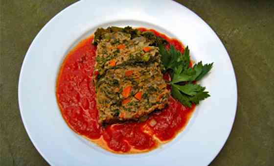 Turkey, Kale and Vegetable Meatloaf Recipe