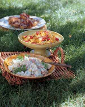 Twice-Cooked Barbecued Chicken & Potato Salad