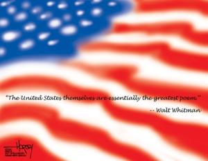 The United States themselves are the essentially the greatest poem -- Walt Whitman