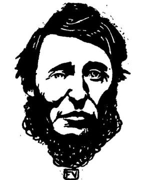 Portrait of Henry David Thoreau (1817-1862) by F�lix Valloton (1865-1925)