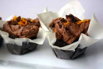 Vegan Chocolate Ginger Orange Cupcakes
