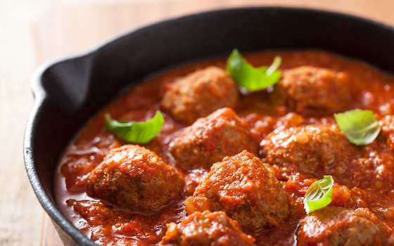 Vegetable Meat Balls with Zesty Tomato Sauce Recipe