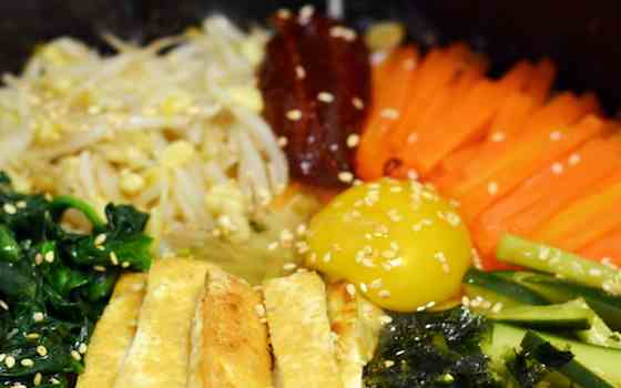 Vegetarian Korean Dolsot Bibimbap Recipe