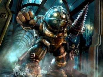 BioShock 2 - Oh, hello there, Big Daddy. What a nice drill you have. Just one of the features in BioShock 2