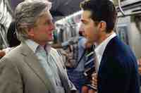 Michael Douglas & Shia LaBeouf  in the movie Wall Street: Money Never Sleeps