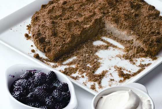 Walnut Sbrisolona Torta with Blackberries Recipe