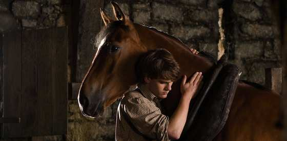 Jeremy Irvine and Emily Watsonin War Horse