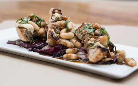 White Bean Bruschetta with Grilled Radicchio Salad Recipe