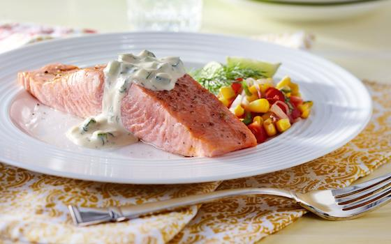 Whole Slow-Roasted Salmon with Sweet Mustard-Dill Aioli Recipe Recipe