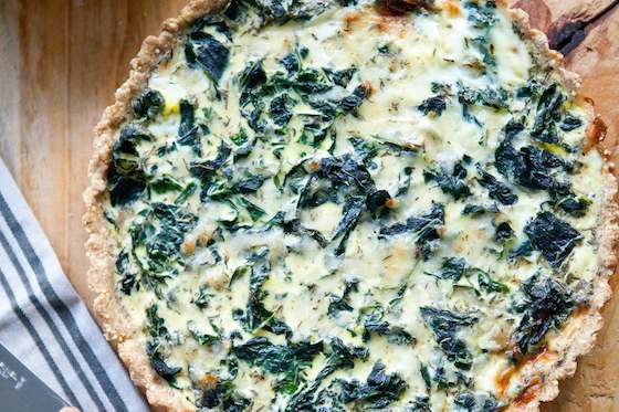 Winter Greens and Gruyere Tart with Cornmeal-Millet Crust Recipe