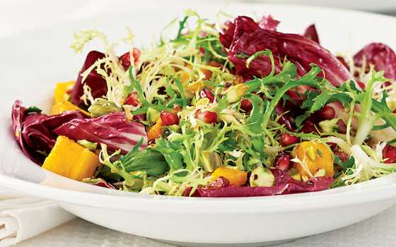 Winter Salad with Roasted Squash and Pomegranate Vinaigrette Recipe