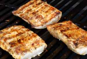 Wolfgang Puck For the grill, it's best to select firm-fleshed fish in relatively thick fillets, like these mahi mahi portions, that hold together well over an open fire.