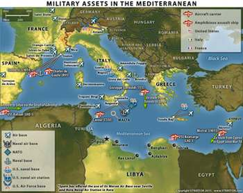 Military Assets in the Mediterranean