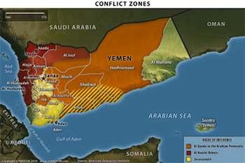 Yemen Conflict Zones