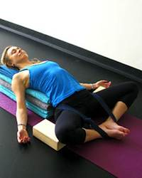 Yoga Stretches: Reclining Bound Angle Pose