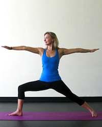 Yoga Stretches: Warrior 2 Pose