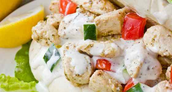 Yogurt-Marinated Chicken and Creamy Greek Sauce Recipe