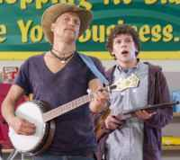 Woody Harrelson & Jesse Eisenberg in the movie Zombieland