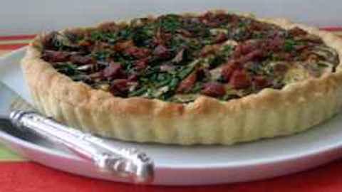 Zucchini, Goat Cheese and Bacon Tart Recipe  Recipe